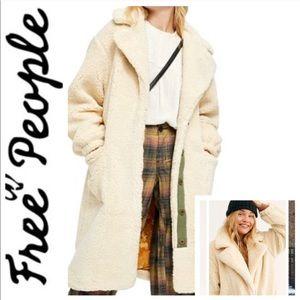 NWT FREE PEOPLE Tessa Oversized Teddy COAT Jacket